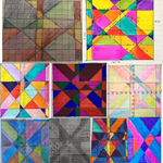 Enjoy a selection of stained glass designs pupils have been creating in #Maths with linear graph equations