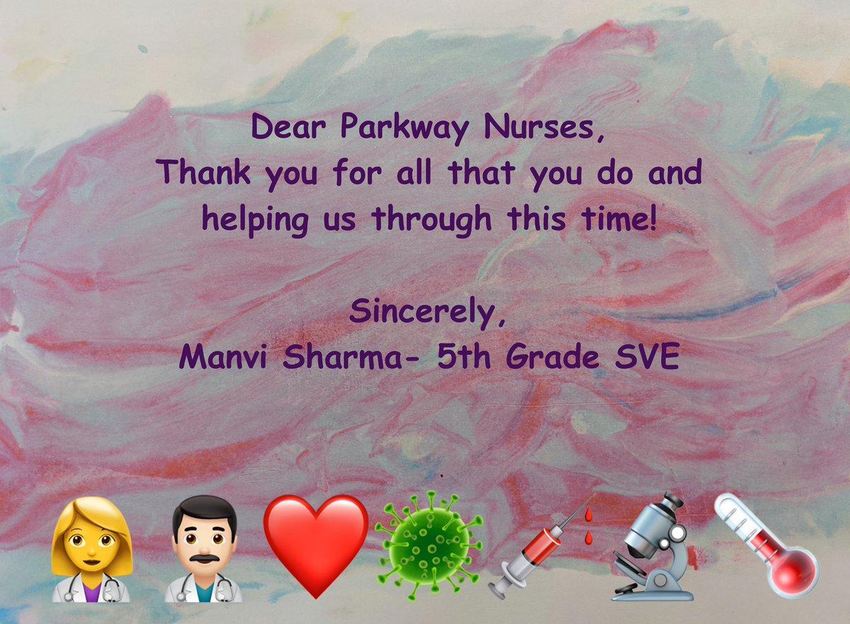 @ParkwayNurses @NurseSVE from Manvi
