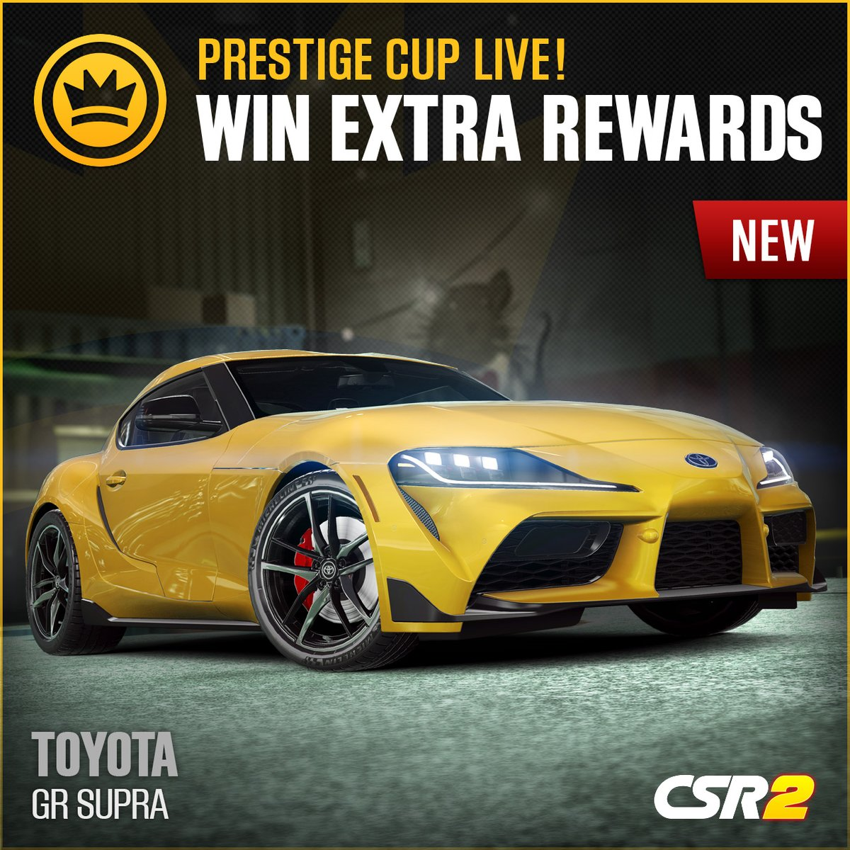The Prestige Cup is now live featuring the all-new Toyota GR Supra! #CSR2 #Toyota #Supra pic.twitter.com/bgq0BXRZn4