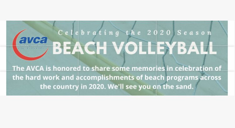 Thank you AVCA for including us in the 2020 Beach Season Celebration!   https://www.avca.org/groups/beach/2020-celebration.html …  #goram #beachvolleyball #cccaa #avcapic.twitter.com/Cxk4t5y02c