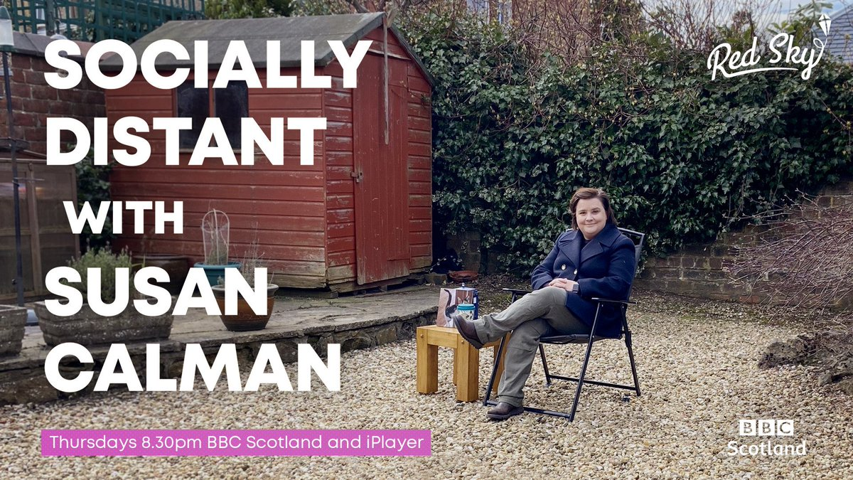 The last episode of Socially Distant is on the BBC Scotland channel tonight at 8.30pm. The team @redskytweets have been a dream to work with and have created something wonderful from a very safe distance. Tonight's show is packed full of lovely stuff. Hope you enjoy it! https://t.co/VK9EnGBl42
