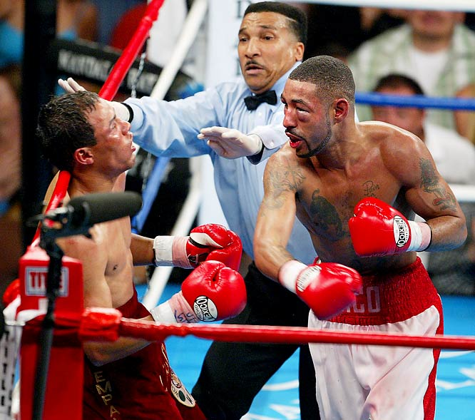"""#OnThisDay in 2005, Diego """"Chico"""" Corrales and José Luis Castillo transcended title belts and defied belief in battering one another for nearly 10 rounds in one of boxing's greatest-ever fights. Corrales triumphed by epic 10th round TKO, fans everywhere gained a favorite fight. https://t.co/RIYIuyfPbq"""