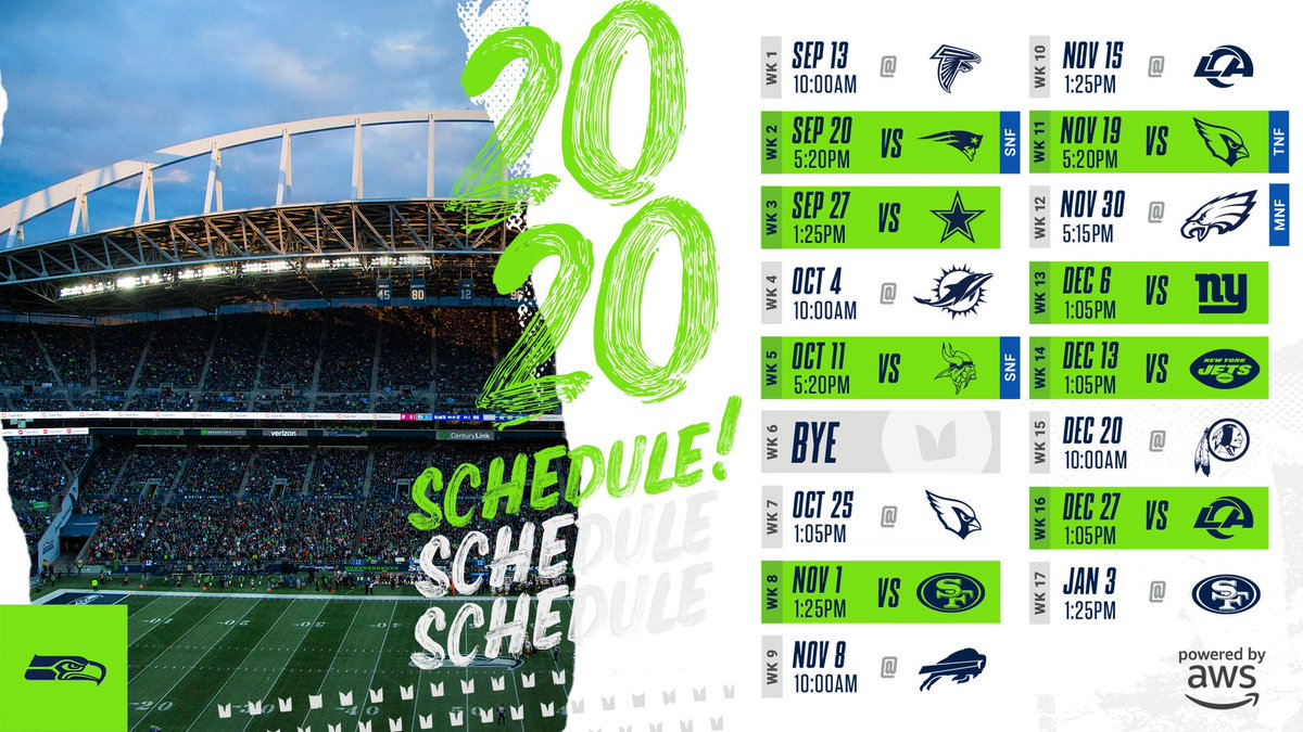 IT IS HERE 📆 What @Seahawks home games are you most excited for?! 📺 Tune in at 5 p.m. for the full #nflschedulerelease analysis on the @nflnetwork!