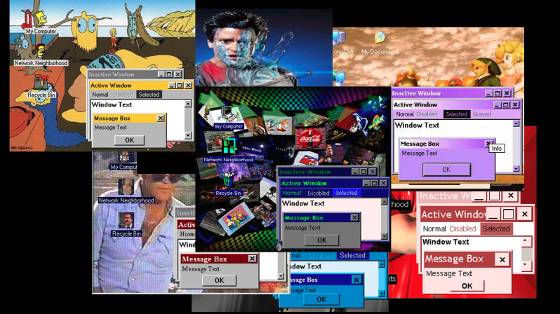 Somebody is furiously uploading '90s Windows desktop themes to the Internet