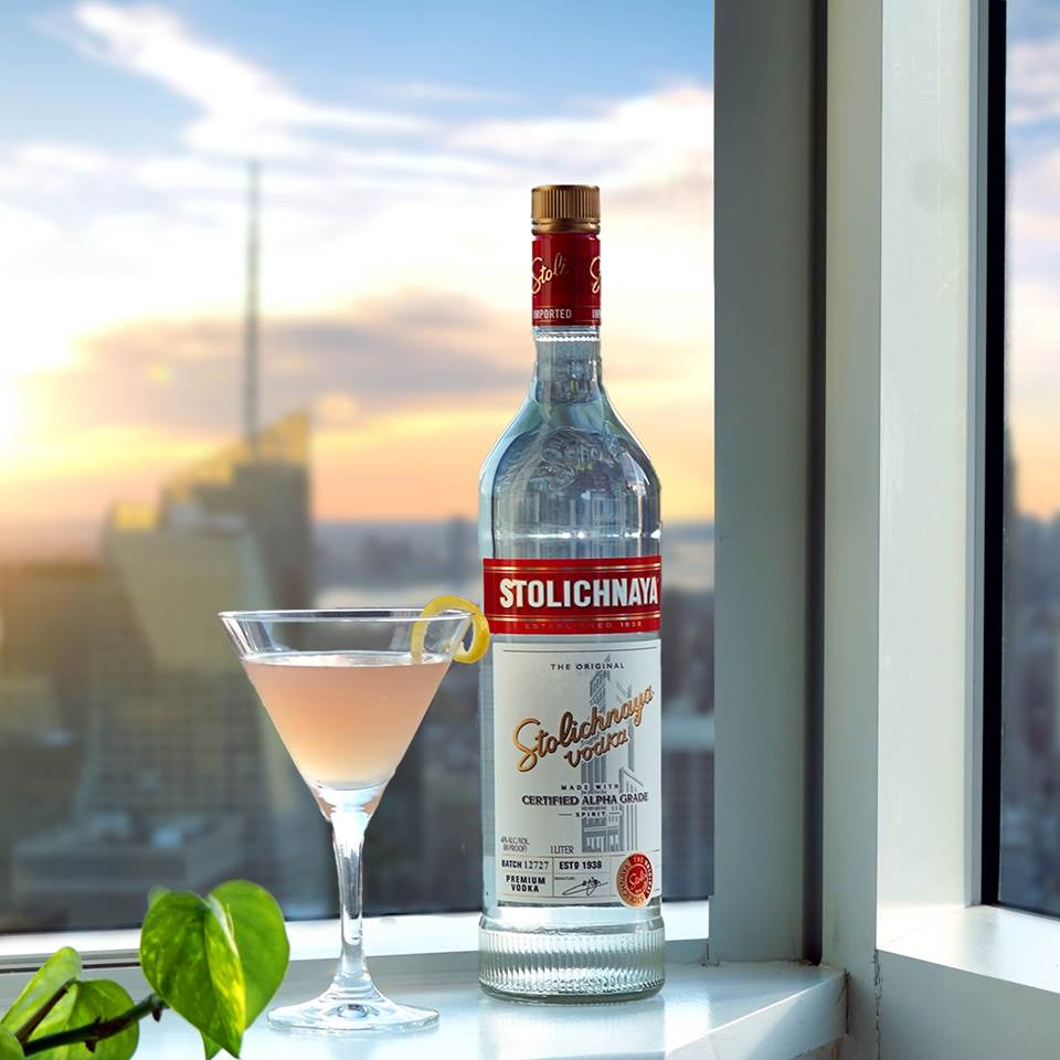 You too can have a view like this on National Cosmopolitan Day (of the cocktail, anyway). Order your cosmo ingredients on @MinibarDelivery Recipe below & #LinkInBio . STOLI COSMO Stoli Premium 1 ½ parts  Triple Sec ½ part  Cranberry Juice 1 part  Bitters Dash  Fresh Lemon Garnish https://t.co/NGfQpJdQab