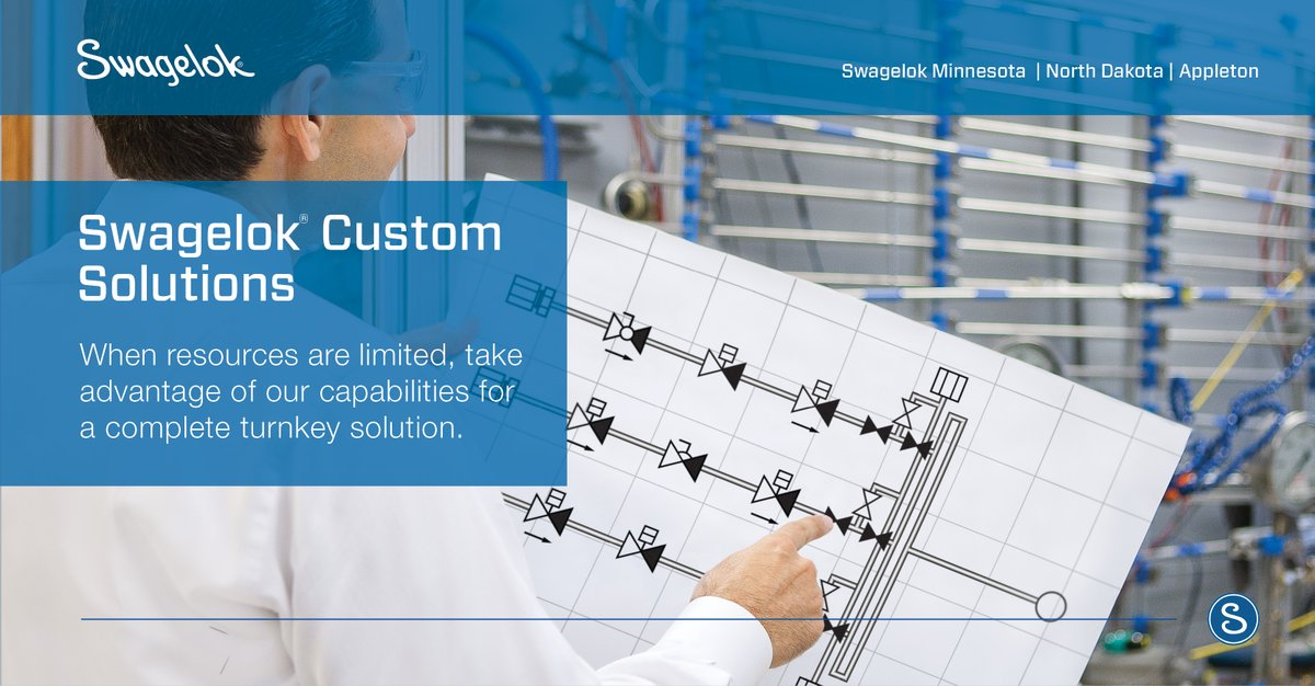 If you're short on manpower, Swagelok Minnesota   North Dakota   Appleton can provide an extra set of hands by building your fluid system assemblies for you. https://t.co/o69XTb3bBl https://t.co/2LvfHiUKRH