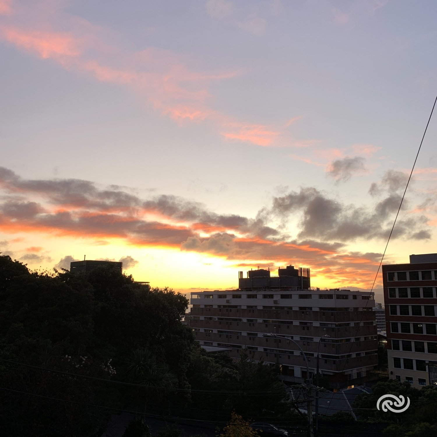 Clear skies and light northerlies to start the day in Wellington. Much of the country will have a similar view this morning as a ridge of high pressure brings settled conditions. MetService.com for more info ^Lewis