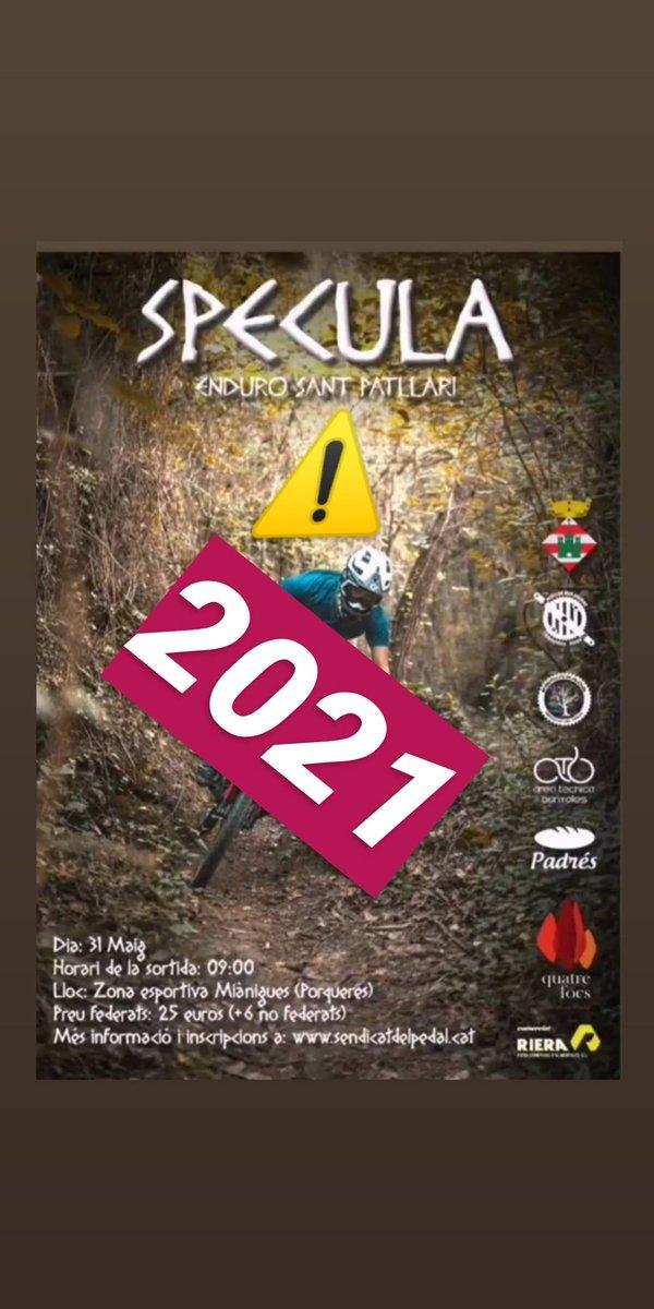 Degut a l'actual pandèmia de la COVID-19 i la incertesa que tenim pels propers mesos, lamentem comunicar-vos que ens veiem obligats a ajornar la 1a edició de l'Specula Enduro fins al 2021.