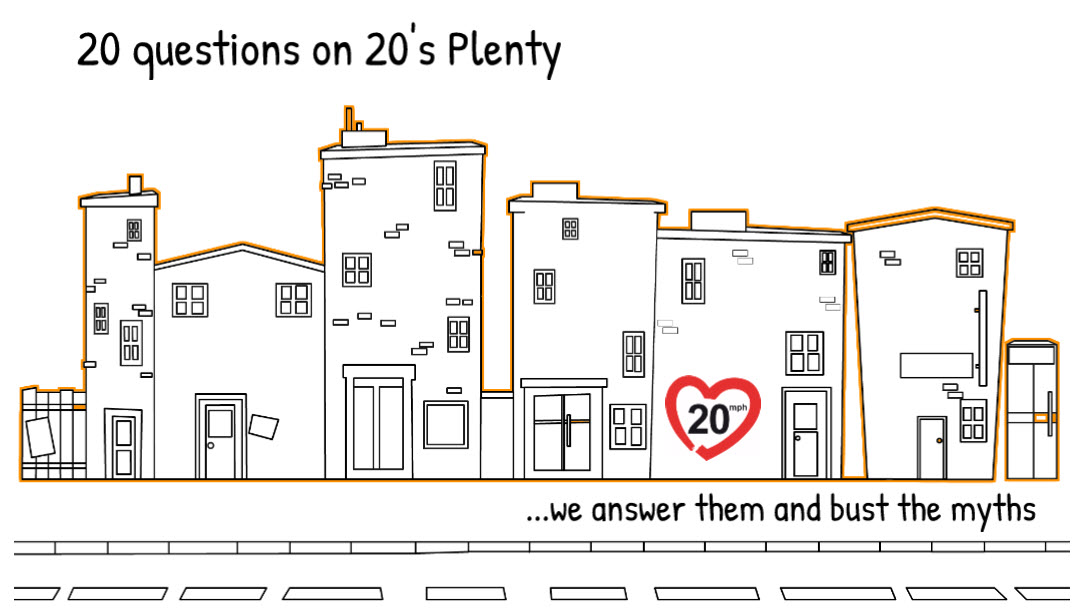If you are interested in the issues around wide-area 20mph limits, then why not take a look at our 20 Questions video at https://t.co/OTXG7Y7tza https://t.co/NcfRbKdaTU