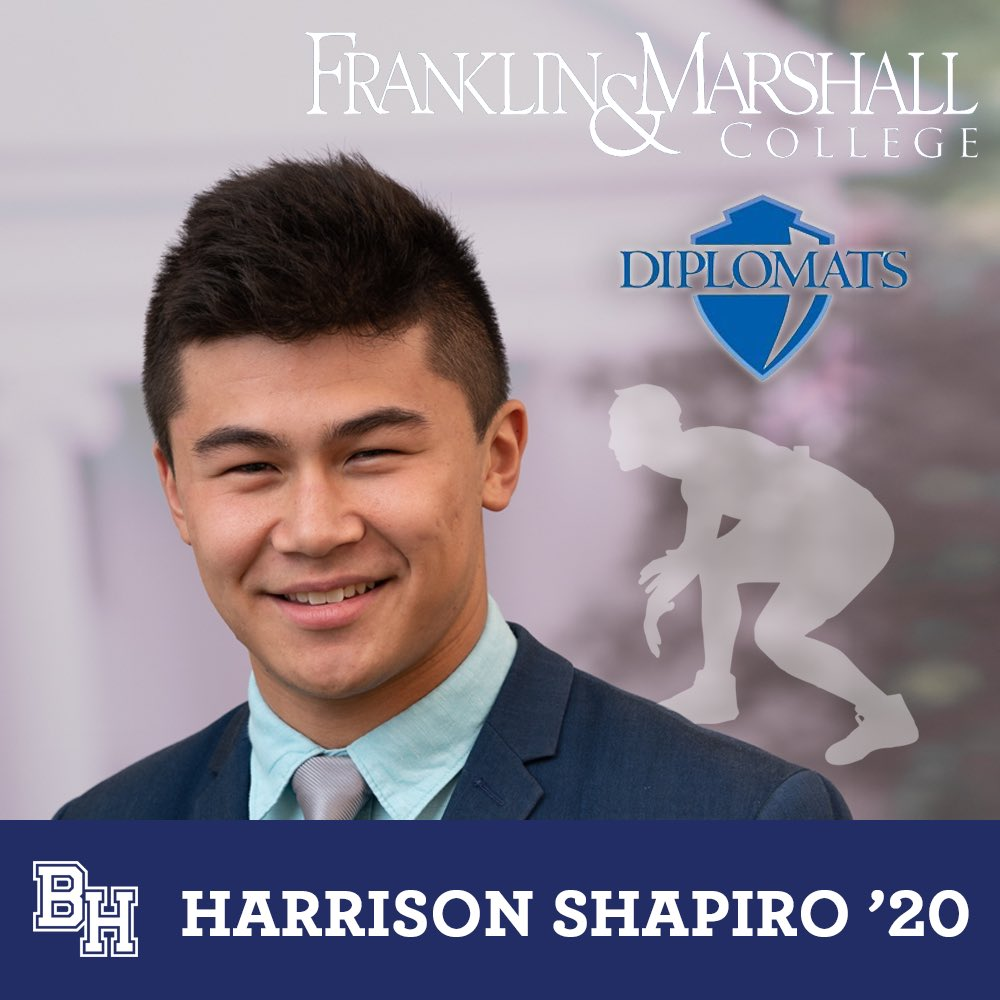 Class of 2020 spotlight on Harrison Shapiro who was recruited to wrestle at Franklin & Marshall #belmonthill2020
