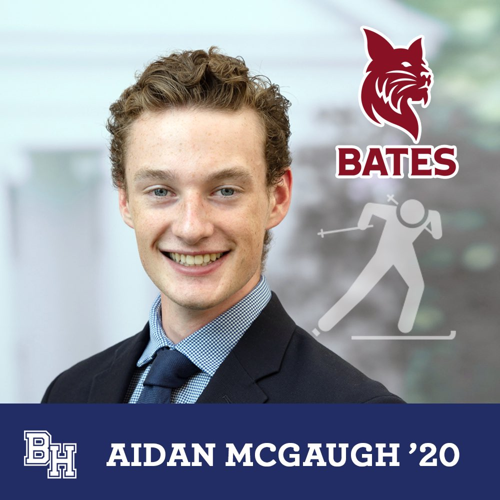 Class of 2020 senior spotlight on Aidan McGaugh who will row and ski at Bates #belmonthill2020