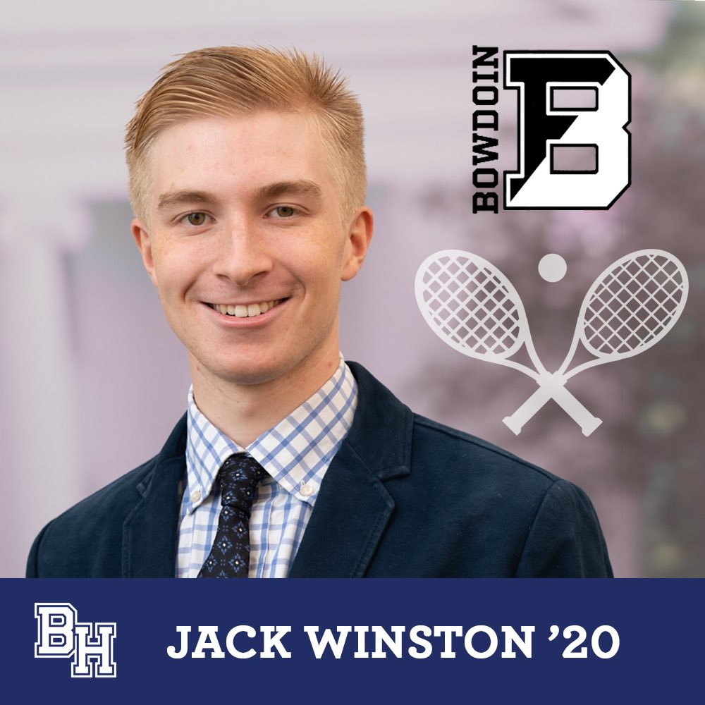 Class of 2020 senior spotlight on Jack Winston who was recruited to play squash for Bowdoin #belmonthill2020