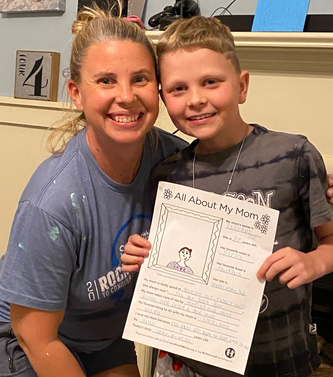 Our patients have been filling out All About My Mom printables to highlight their amazing moms, and their messages will warm your hearts. Want to join the fun? Download a copy at choa.org/mothersday, and tag us in your photos.