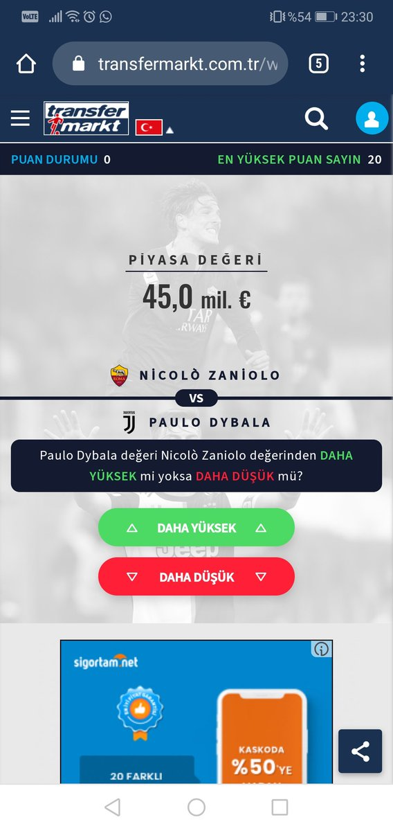 #FutboldanÖnceSağlık #transfermarkt @TMtr_news var mı yüksek? https://t.co/CdJwywS69o