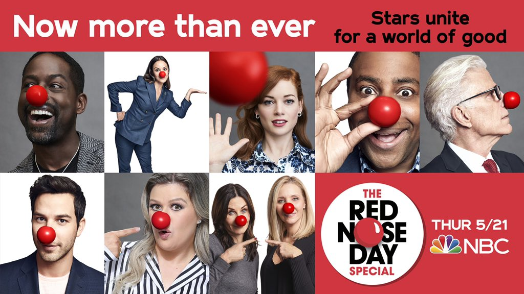 Join us on May 21 for The #RedNoseDay Special on @NBC. NosesOn.com