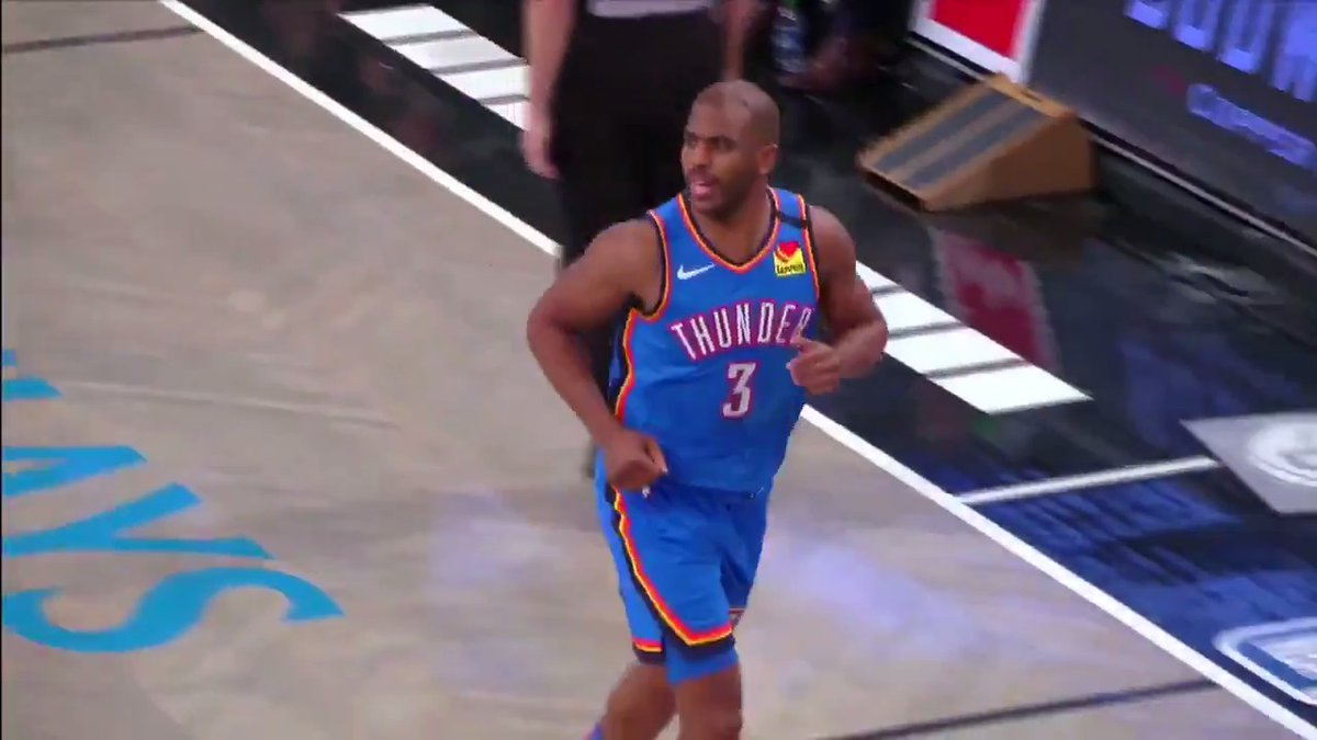 """.@CP3's class is in session. It's time to learn a thing or two by watching how the """"Point God"""" operates. #ThunderUp #NBABreakdown https://t.co/0BLzivMkVk"""