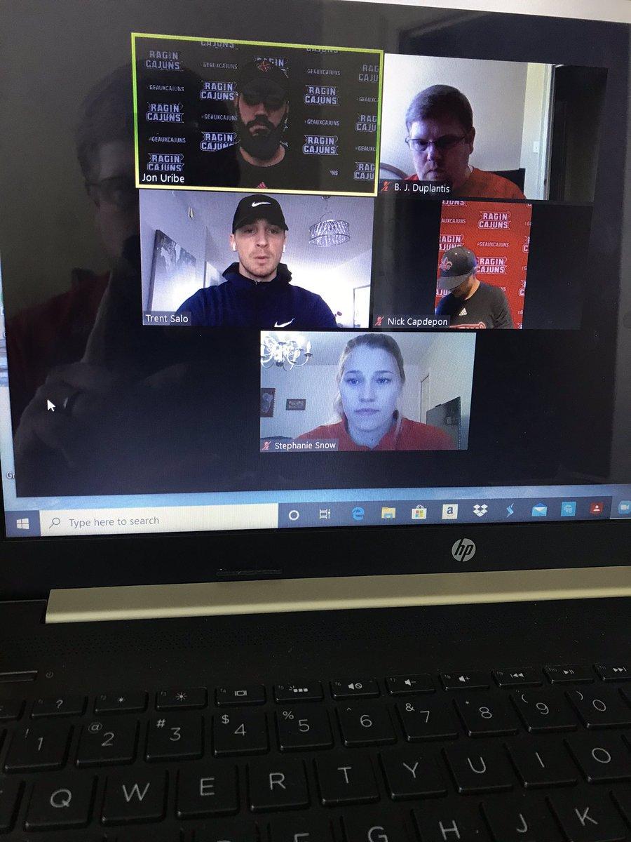 Thank you @trentsalo for talking with @RaginCajunsMBB & @RaginCajunsWBB Sports Medicine and Sports Preformance Staff today! #DetroitBasketball #GeauxCajuns https://t.co/Gc96RrfsT1