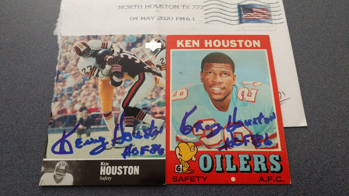 Hall Of Fame Mailday from Ken Houston https://t.co/aGpSwLQLqO
