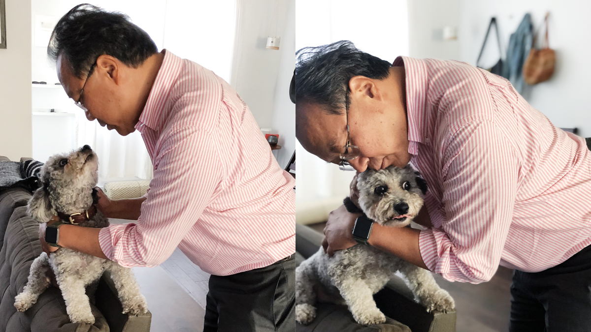 .@YoYo_Ma joined @CiaoSamin and I for this week's episode of Home Cooking! To celebrate, please enjoy these photos of Yo-Yo Ma and my dog Watson staring deeply into each other's eyes, and then hugging. https://t.co/s3yTPMvSCt https://t.co/ITzK6NisNM