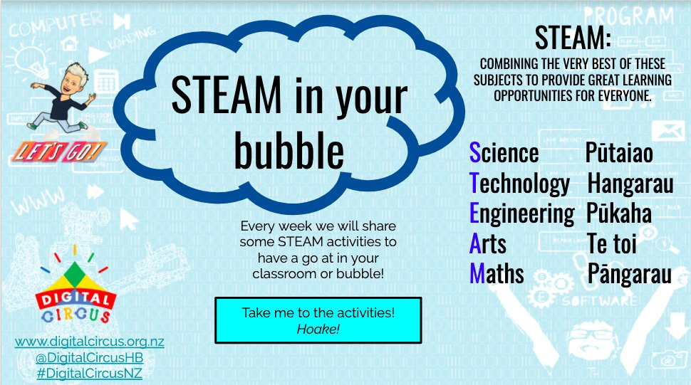 Wiki 3 of our STEAM in a bubble challenge!   Fun and engaging STEAM activities for students to try and using materials you may have in your home!  Click here if you would like to make your own copy:  https://t.co/hMxWilrEu0  #edtech #edchatNZ #STEAM  @KinlochJones https://t.co/gm0fzPbsBk