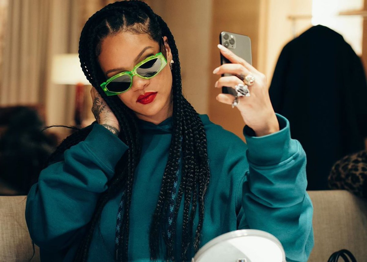 the office.... for the record these are the #OffRecord @FentyOfficial glasses hittin May 13th