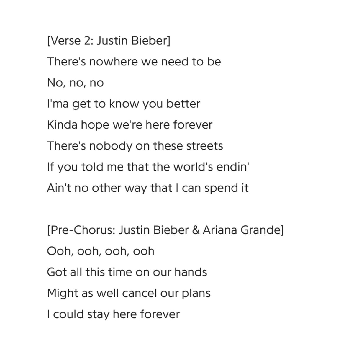 Justin Bieber Crew On Twitter Check Out The Lyrics To Stuck With U By Justin Bieber And Ariana Grande Mm, must blow your mind to see a. justin bieber crew on twitter check