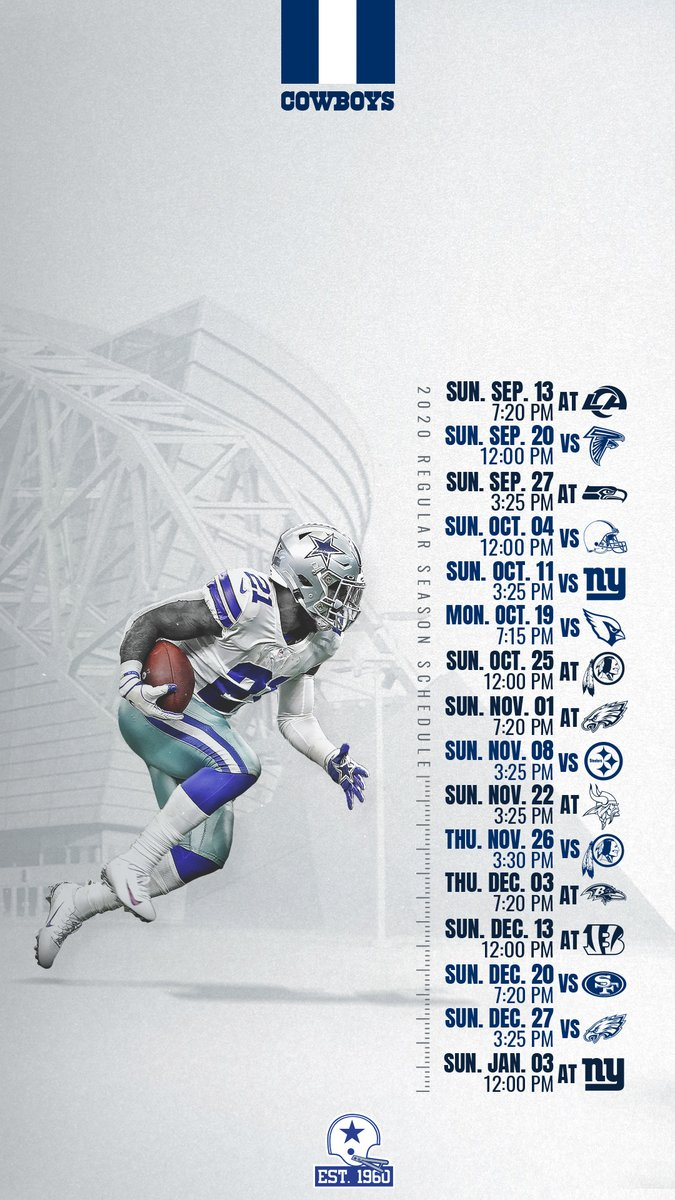 "Dallas Cowboys on Twitter: ""NEW SCHEDULE 🌟 NEW WALLPAPER 📲… """