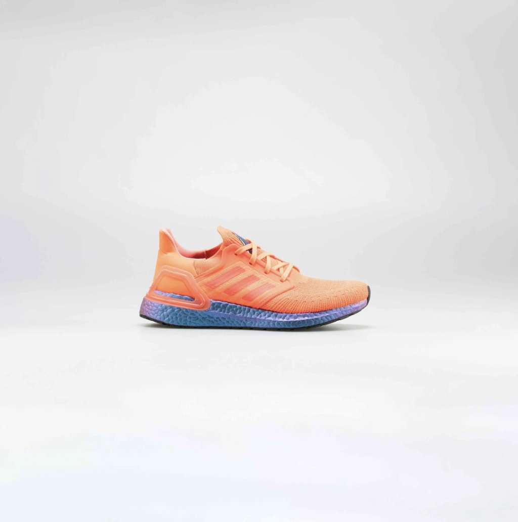 ULTRABOOST 2020 MENS RUNNING SHOE - SOLAR RED/BLUE METALLIC shopnicekicks.com/products/ultra…