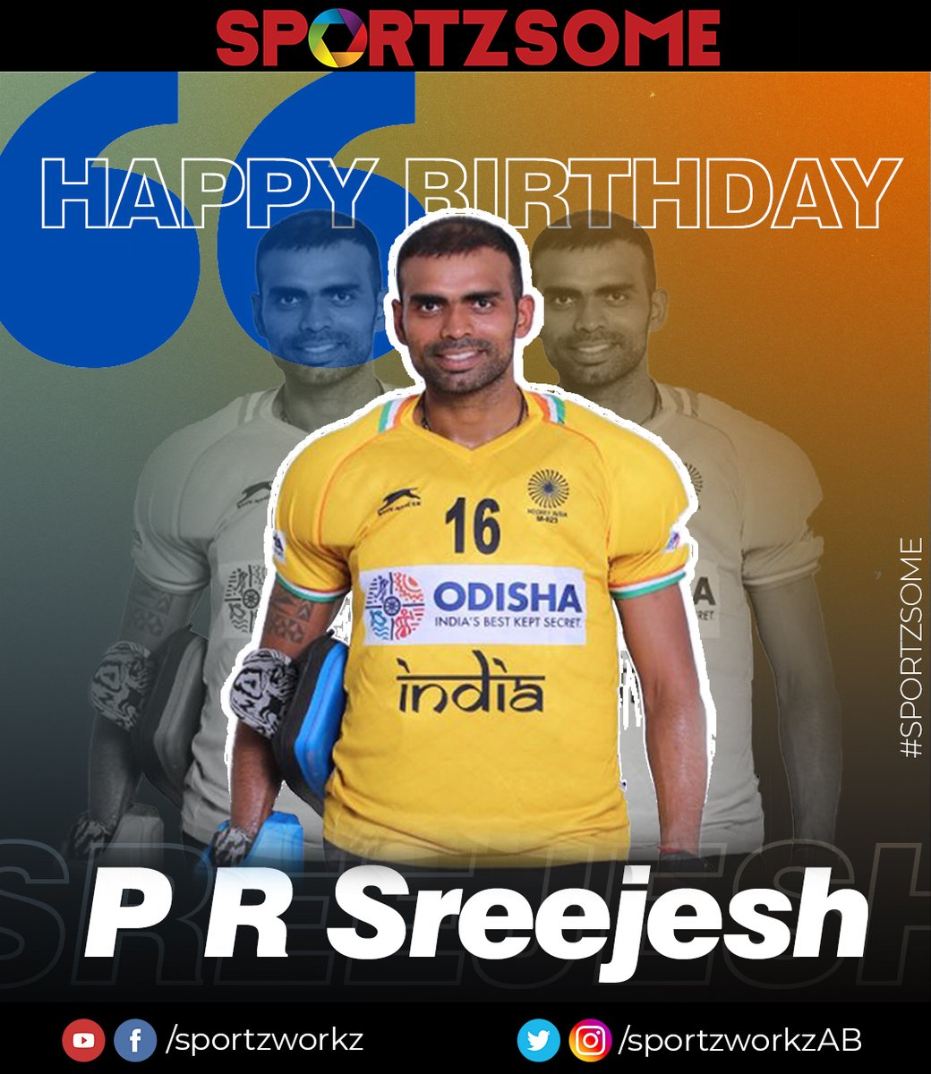 Best wishes to the former captain and senior goalkeeper of Indian national Hockey team. @16Sreejesh   - Team Sportzworkz #IndiaKaGame #Hockey<br>http://pic.twitter.com/5OHMRsnQg5