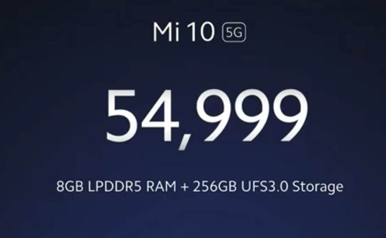 Price of Other Storage Variant of 8GB RAM and 256GB ROM is Rs. 54,999
