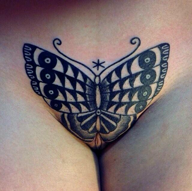 Tattoo Butterfly Sexy Vector Images