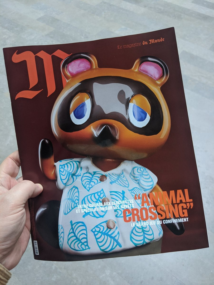 tom nook is on the cover of one of france's most popular magazines. what the hell is happening  (photo via @corentin_lamy) https://t.co/1RQmziiIIE