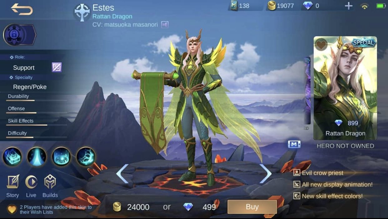 Mobile Legends Philippines On Twitter New Skin Epic Estes The Rattan Dragon Mobilelegends Mobilelegendsph Mobilelegendsphilippines Mobilelegendsbangbang Mlbb Https T Co X5b5lfv6hs