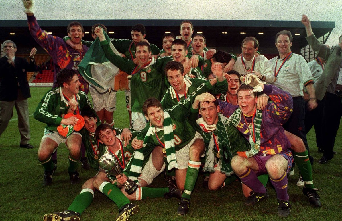 ON THIS DAY... 📅   1⃣9⃣9⃣8⃣ | Ireland beat Italy in the final of the U-16 European Championships, our first-ever under-age success 🏆  What a fantastic achievement 👏  #COYBIG https://t.co/ctWqVlrVUE