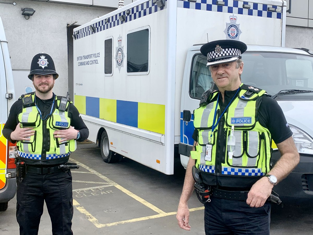 I'm sure that it'll come as no surprise that I'm out on patrol again today. My patrols will take me to the areas covered by @BTPEssex and @BTPKent. I'm joined by S/PC Kidwell from @BTPSpecials.