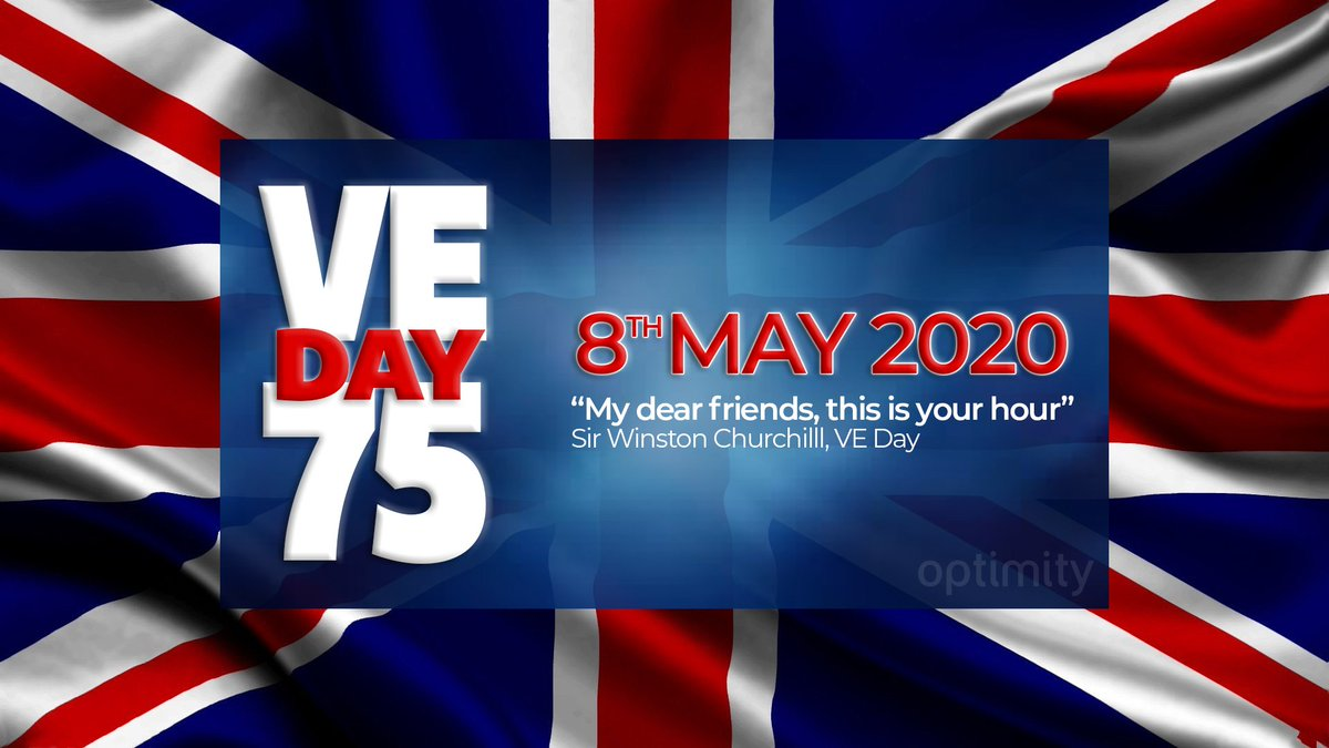 75 years ago Sir Winston Churchill announced the Nazi surrender to the world and civilians everywhere, including in Germany, were released from tyranny. Thank you to all that answered the call of freedom in its darkest hour. We remember. #veday #ve75 #75years #wewillremember