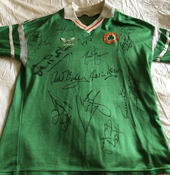 Happy birthday Jack Charlton the 1st to sign my 32-year-old Euro 88 jersey just under the Adidas logo