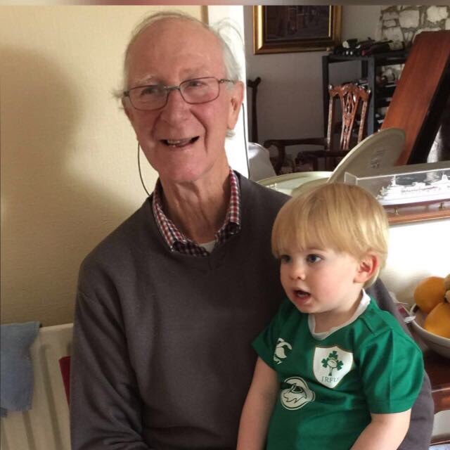 Happy Birthday Jack Charlton here with my youngest Aidan