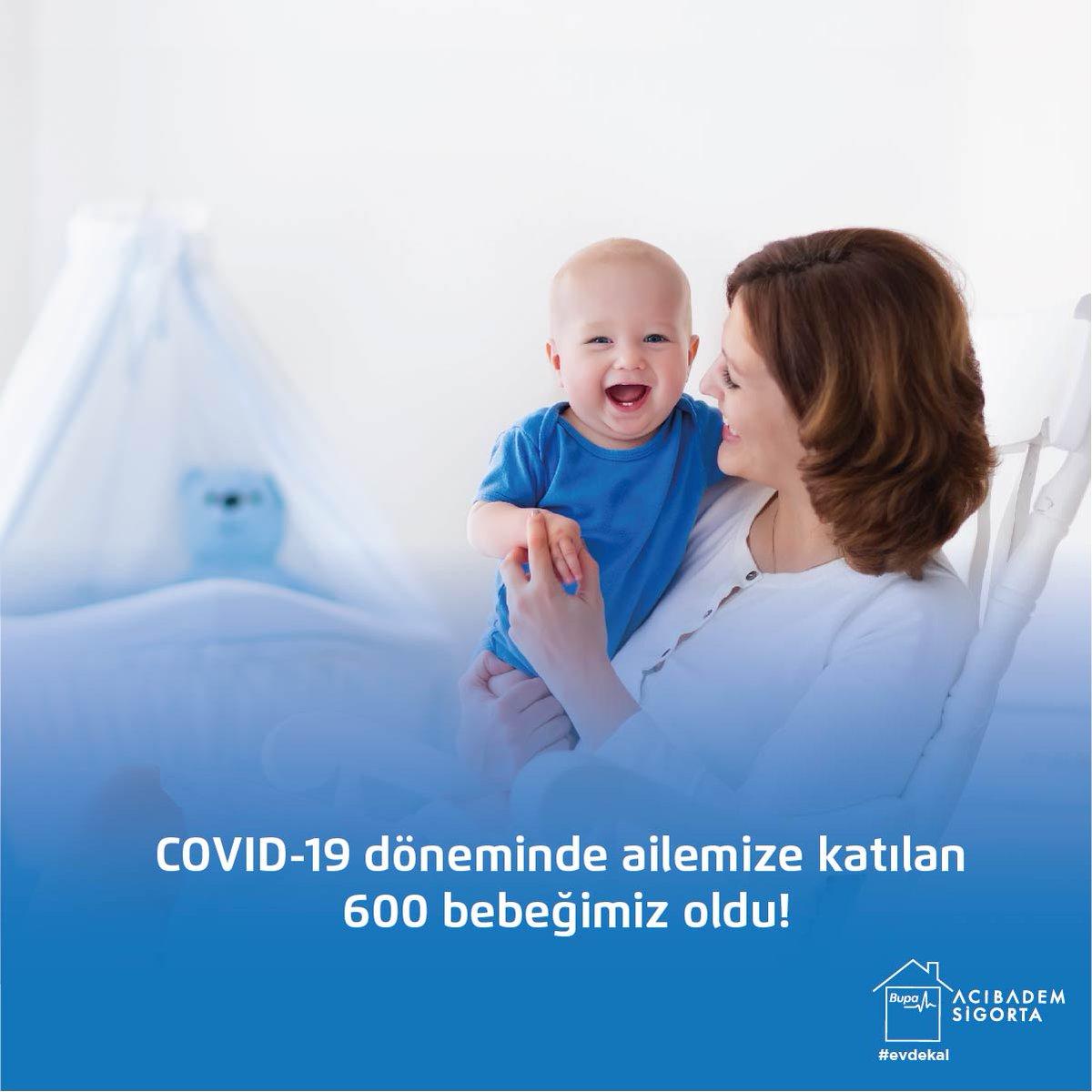 COVID-19 döneminde ailemize katılan 600 bebeğimiz oldu! Yeni doğan bebeklerimize aramıza hoş geldin diyor, anneler günü haftasında anneliğe adım atan tüm annelerimizi kutluyoruz.💙  #BupaAcıbademSigorta  #YanYanaOlamasakDaBeraberiz #Covid_19  #EvdeKal #HoşgeldinBebek https://t.co/58hkaArm5U