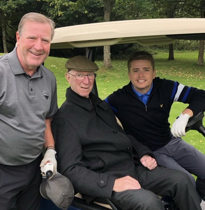 Happy 85th Birthday Jack Charlton     ..... He s the guy in the middle