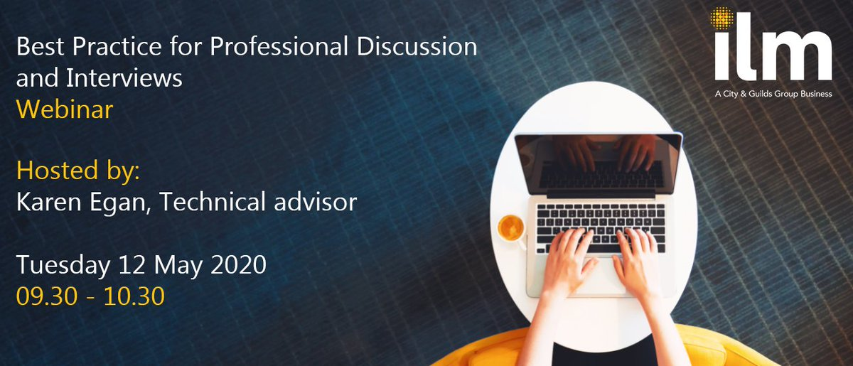 Theres still time to register for our Best Practice for Professional Discussion and Interviews webinar this Tuesday, 12 May 2020 09.30 (BST). Reserve your place now: ow.ly/mSTq50zzDNB