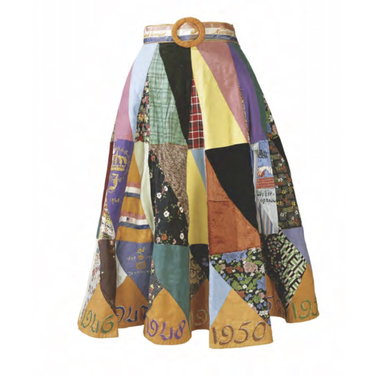 Colors of the Earth Multicolored Patchwork Skirt