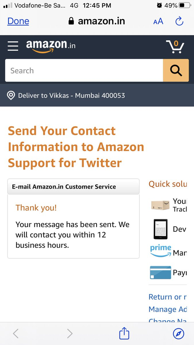 @AmazonHelp The details were shared by 12:45pm today. I hope that this is resolved once and for all.