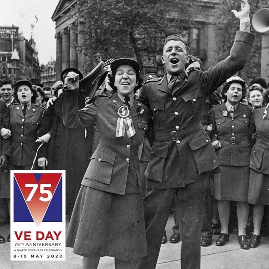 Today we celebrate the 75th Anniversary of 𝐕 𝐄 𝐃𝐚𝐲 🇬🇧  𝐕𝐢𝐜𝐭𝐨𝐫𝐲 𝐢𝐧 𝐄𝐮𝐫𝐨𝐩𝐞 𝐃𝐚𝐲 is so significant our May Day bank holiday was brought forward to today, which has only ever happened once before - for the 50th VE Day celebration. #VEDay #VE75 https://t.co/11NymllhJh