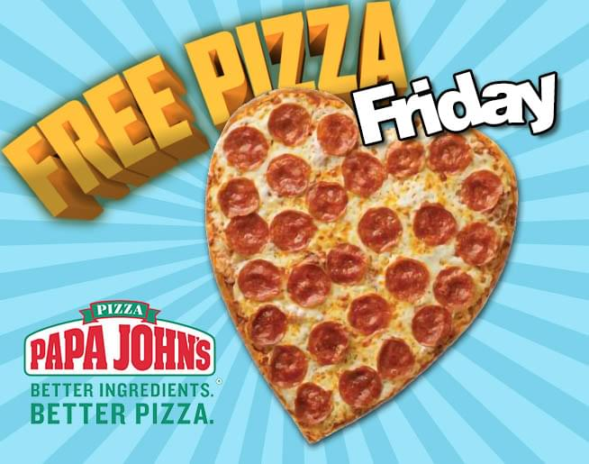#FreePizzaFriday is here! Listen btw 8a-6p to win free @PapaJohns for #MothersDay <br>http://pic.twitter.com/AXAoMkRkEh
