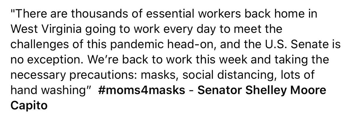 A message from @SenCapito #moms4masks