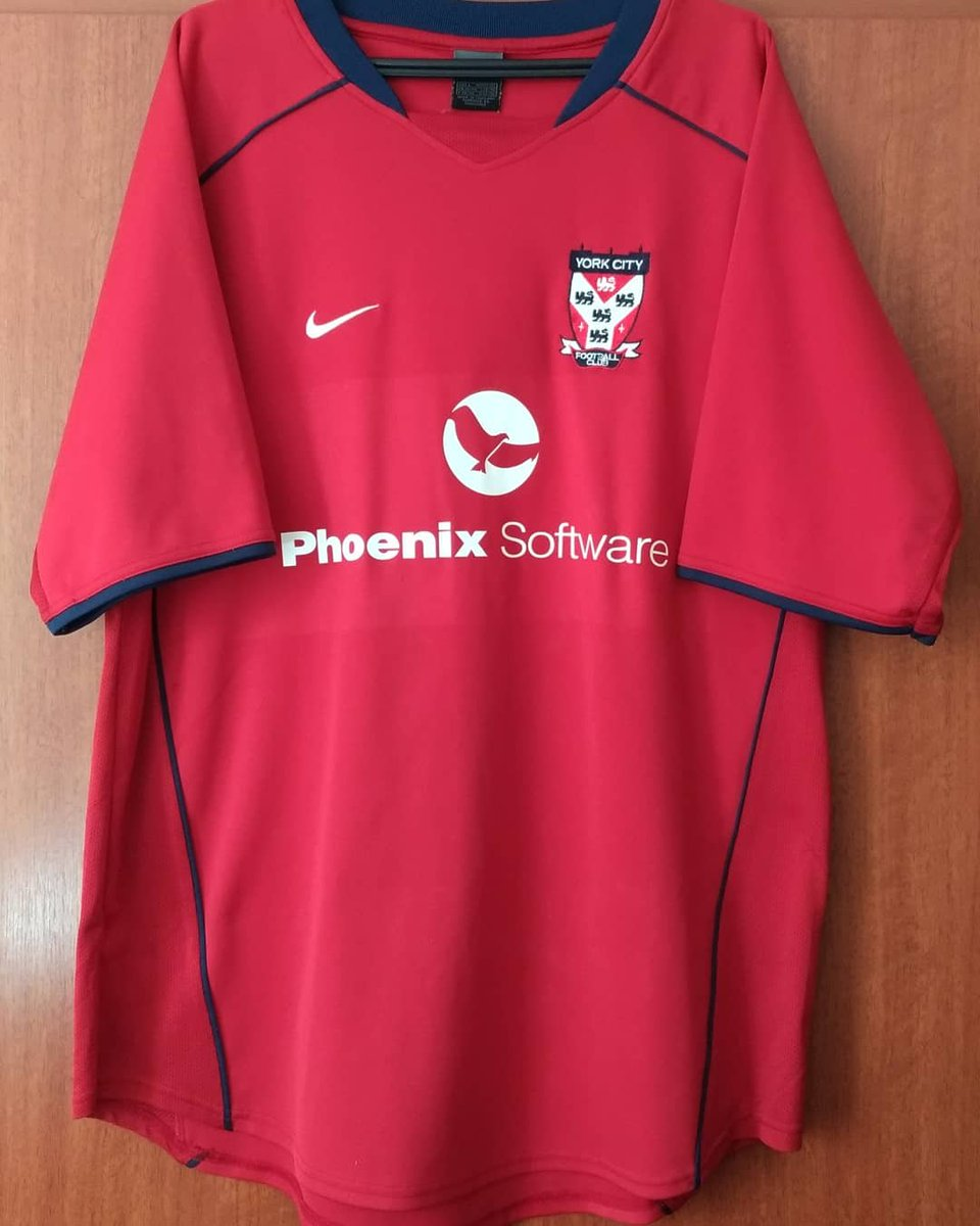Série Camisas Inglesas #95 York City (Titular, Nike, 2003/04) National League North #yorkcity #nationalleaguenorth