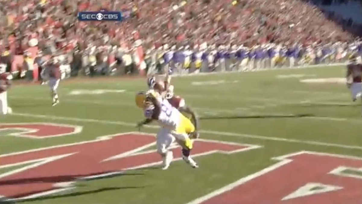 Jarvis Landry (@God_Son80) made some RIDICULOUS catches for @LSUfootball.