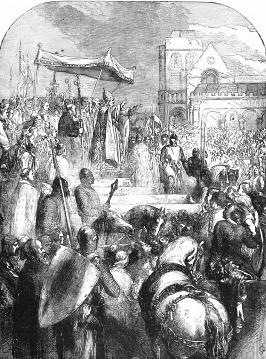 Episode 210 - What did Urban say?tinyurl.com/y7m4vucm We talk about Urbans tour of France & break down what we believe he said and why he said it. Pic: Pope Urban preaches the Crusade from Cassells Illustrated History of England (highly inaccurate!)