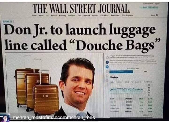 @DonaldJTrumpJr Kinda hard to sue having plead guilty twice, no?!
